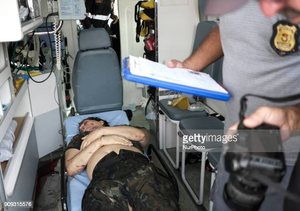 Image depicts graphic content] The body of flight controller Lia Maria Abreu de Souza who came to be rescued but could not resist the injuries and...