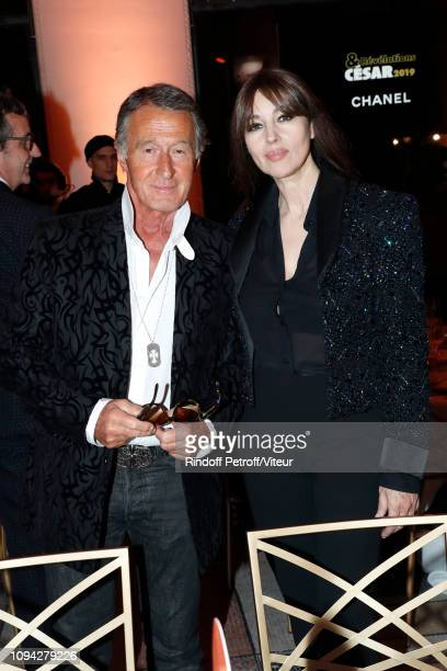 Image Director at Chanel Eric Pfrunder and actress Monica Bellucci attend the 'Cesar Revelations 2019' at Le Petit Palais on January 14 2019 in Paris...