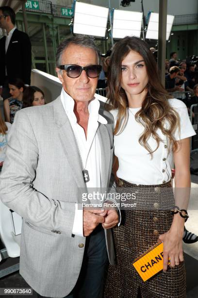 Image Director at Chanel Eric Pfrunder and Elisa Sednaoui attend the Chanel Haute Couture Fall Winter 2018/2019 show as part of Paris Fashion Week on...