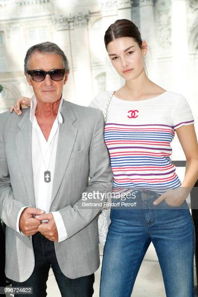 Image Director at Chanel Eric Pfrunder and model Ophelie Guillermand attend the Chanel Haute Couture Fall Winter 2018/2019 show as part of Paris...