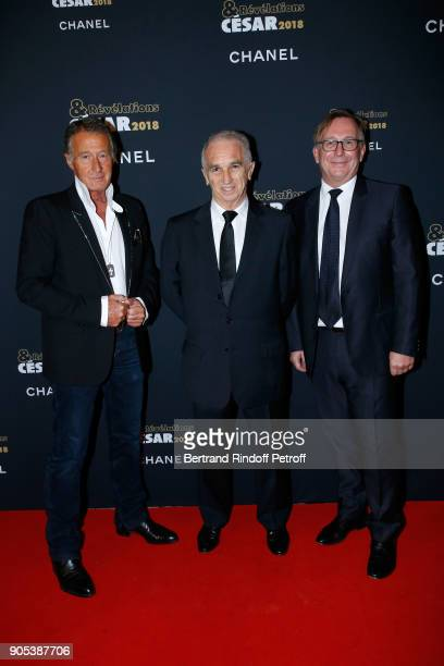 Image Director at Chanel Eric Pfrunder Cesar Academy President Alain Terzian and President of Fashion Activities at Chanel Bruno Pavlovsky attend the...