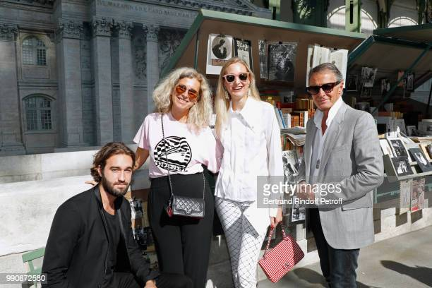 Image Director at Chanel Eric Pfrunder his wife his son Jasper Pfrunder and his daughter Tess Pfrunder attend the Chanel Haute Couture Fall Winter...