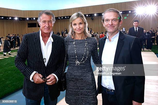 Image Director at Chanel Eric Pfrunder with Doctor Frederic Saldmann and his wife Marie attend the Chanel Spring Summer 2016 show as part of Paris...