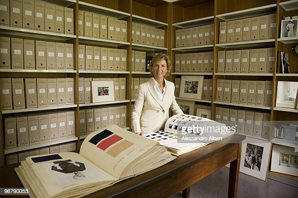 Image Director of Ermenegildo Zegna Group Anna Zegna poses for a portrait shoot in Biella on June 10, 2008..