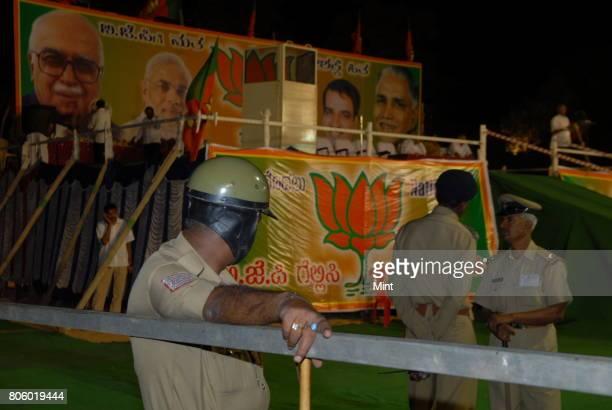 Image from BJPs star leader Narandra Modis election campaign at Vijaynagar in Bangalore
