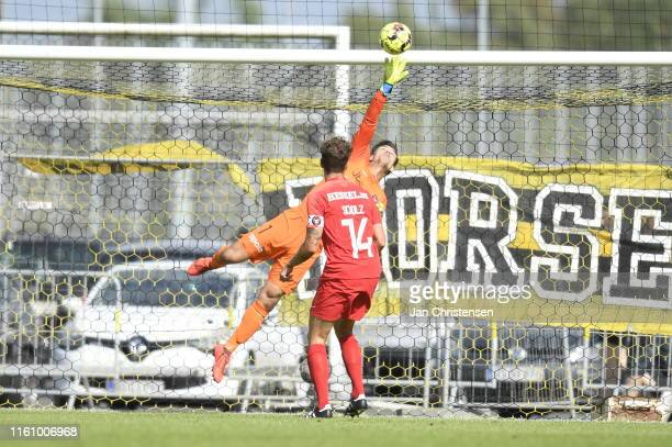 Image from the Danish 3F Superliga match between AC Horsens and FC Midtjylland at Casa Arena Horsens on August 11 2019 in Horsens Denmark