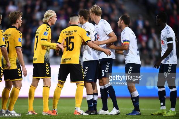 Image from the Danish 3F Superliga match between AGF Aarhus and AC Horsens at Ceres Park on August 19 2019 in Aarhus Denmark