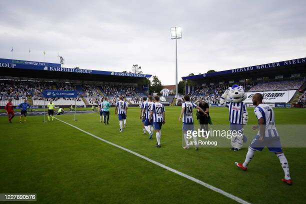 Image from the Danish 3F Superliga match between OB Odense and Randers FC at Nature Energy Park on July 19, 2020 in Odense, Denmark.