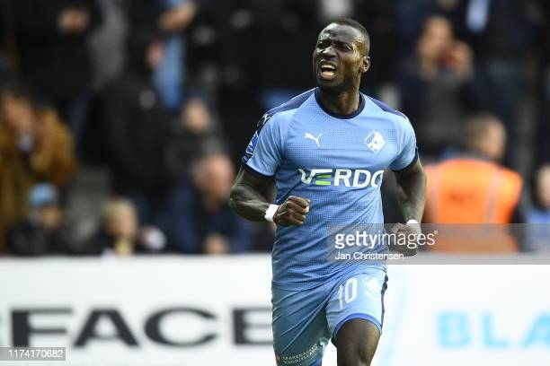 Image from the Danish 3F Superliga match between Randers FC and AGF Arhus at Cepheus Park Randers on October 06 2019 in Randers Denmark
