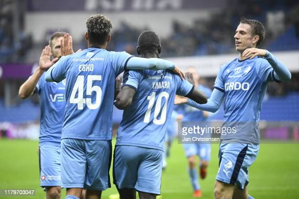 Image from the Danish 3F Superliga match between Randers FC and Lyngby BK at Cepheus Park Randers on November 03 2019 in Randers Denmark