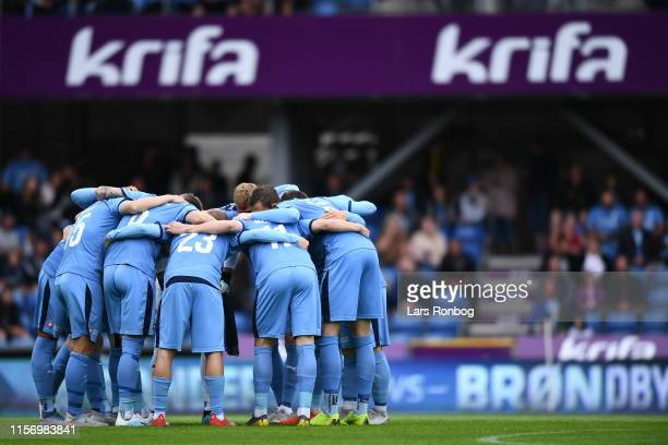 Image from the Danish 3F Superliga match between Randers FC and Brondby IF at Cepheus Park on July 21 2019 in Randers Denmark
