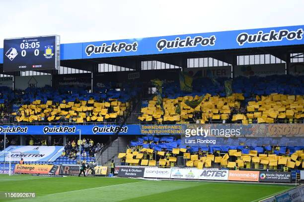 Image from the Danish 3F Superliga match between Randers FC and Brondby IF at Cepheus Park on July 21, 2019 in Randers, Denmark.