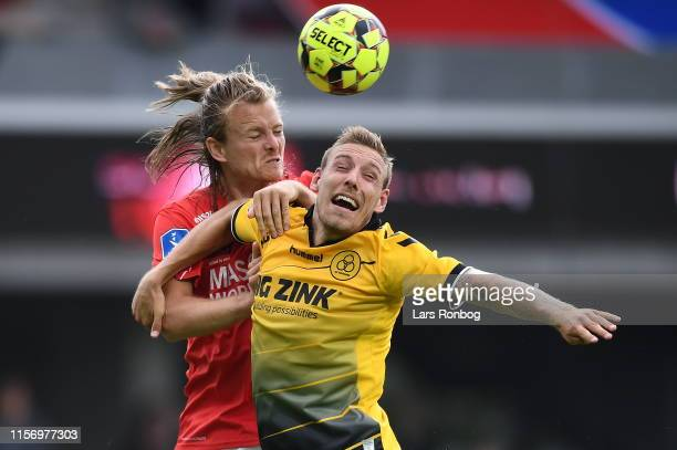 Image from the Danish 3F Superliga match between Silkeborg IF and AC Horsens at Jysk Park on July 21 2019 in Silkeborg Denmark