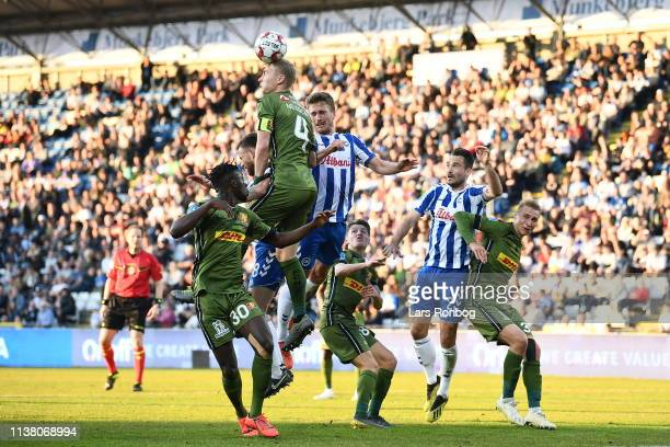 Image from the Danish Superliga match between OB Odense and FC Nordsjalland at Nature Energy Park on April 19 2019 in Odense Denmark