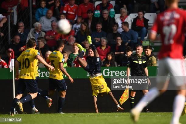 Image from the Danish Superliga match between Vejle Boldklub and Hobro IK at Vejle Stadion on May 19 2019 in Vejle Denmark