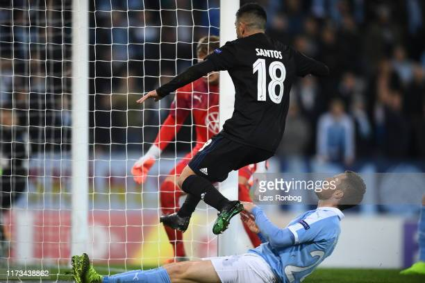 Image from the UEFA Europa League match between Malmo FF and FC Copenhagen at Stadion Malmo on October 3, 2019 in Malmo, Denmark.