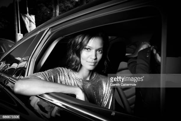 Image has been digitally altered Liya Kebede departs the Martinez Hotel on May 20 2017 in Cannes France