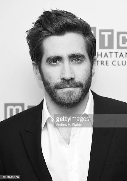 Image has been digitally processed] Actor Jake Gyllenhaal attends the Constellations Broadway opening night after party at Urbo NYC on January 13...