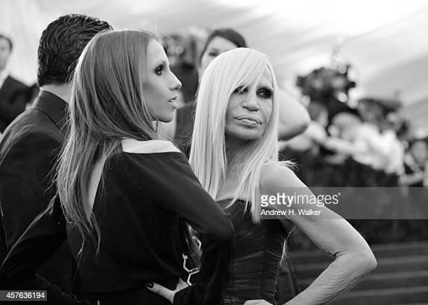 Image has been digitally processed] Allegra Versace and Donatella Versace attend the 'Charles James Beyond Fashion' Costume Institute Gala at the...