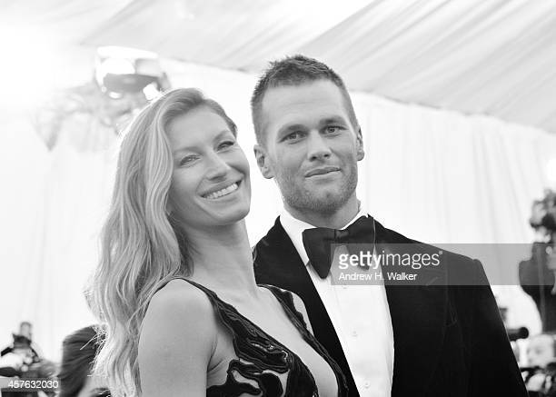 Image has been digitally processed] Gisele Bndchen and Tom Brady attend the 'Charles James Beyond Fashion' Costume Institute Gala at the Metropolitan...