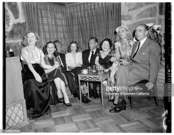 9 image Mrs Huntington Hartford party for Miss Marion Davies May 9 1951 Marion DaviesSpeed LamkinAnne ShirleyGreg BautzerMrs Huntington HartfordHyatt...