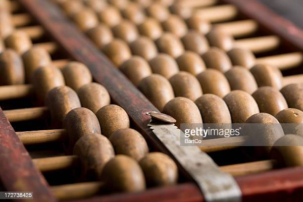 image of a Chinese abacus, calculating, finance