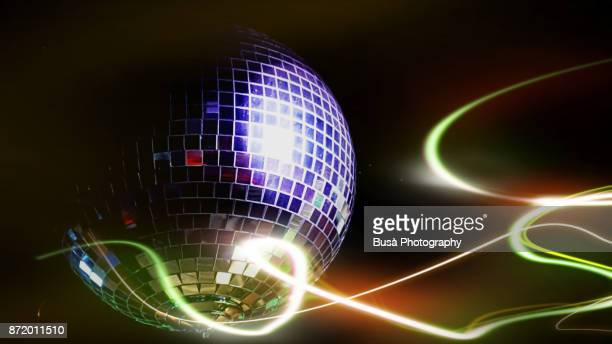 Image of a disco ball in a nightclub
