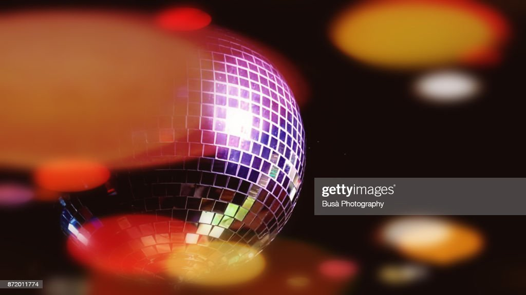 Image of a disco ball in a nightclub : Stock Photo