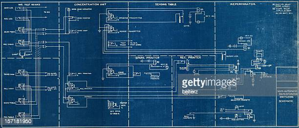 Image of a wiring blueprint with a black boarder