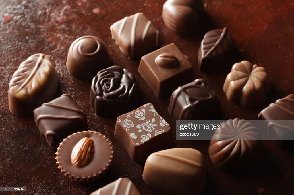 Image of chocolate placed on various backgrounds : Stock Photo