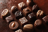 Image of chocolate placed on various backgrounds