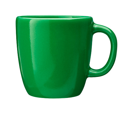 Image of coffee cup isolated with clipping path 869295342