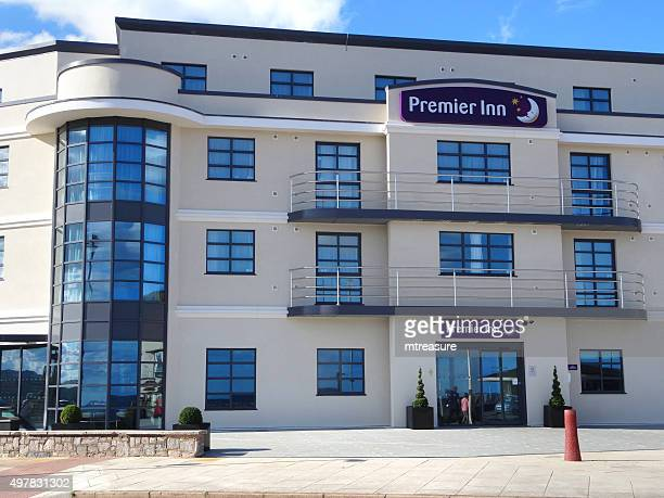 Image of contemporary architecture of seafront Premier Inn Exmouth Hotel