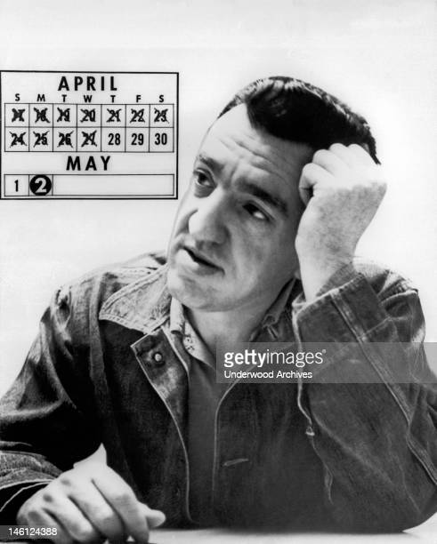 Image of convicted robber and rapist Caryl Chessman 'The Red Light Bandit' five days before he was scheduled to be executed in the gas chamber at San...