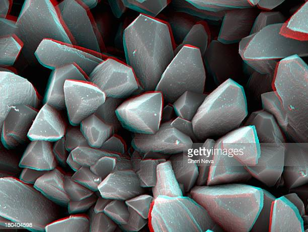 3D SEM image of crystal, 8 degree tilt