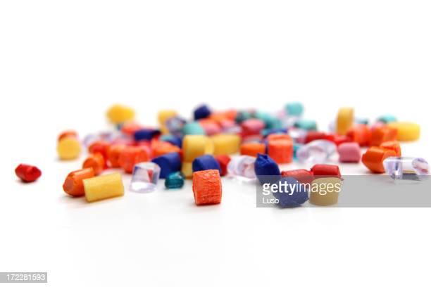Grãos-plástico