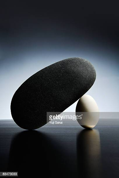 image of egg and stone