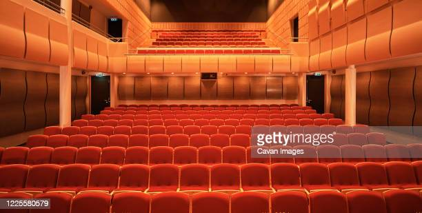 image of empty concert hall - vaudeville stock pictures, royalty-free photos & images