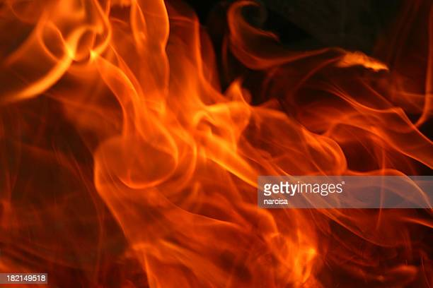 Image of fire on black background