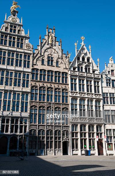 CONTENT] Image of Guild Houses Grote Markt Antwerp Belgium This is the historical centre of the city The market square is surrounded by the typical...