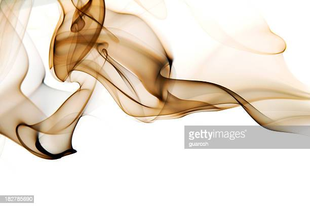 Image of high contrast smoke up against a white background