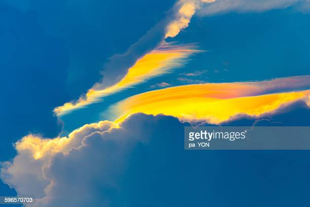 Image of iridescent cirrus clouds