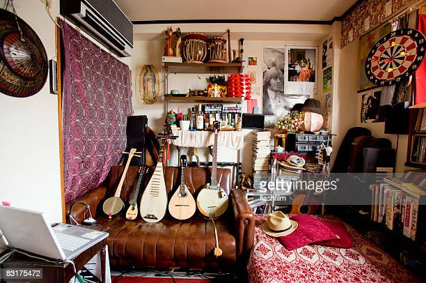 Image of Japanese man's bedroom