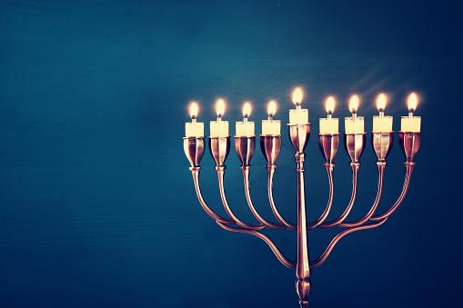 Image of jewish holiday Hanukkah background 609074888