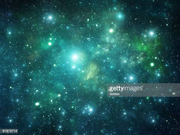 Image of many stars in the universe