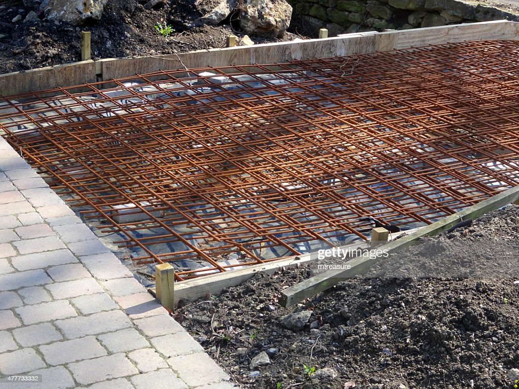 Image Of Metal Concrete Reinforcement Wire Mesh Bars Bridge