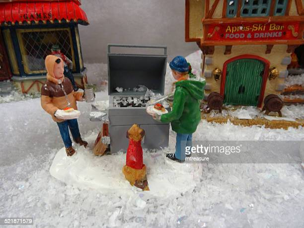 Bild des Modells Christmas village, Mini-Häuser, Personen, winter-bbq