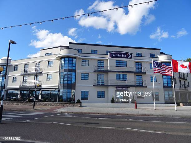 Image of modern Premier Inn hotel on Exmouth seafront