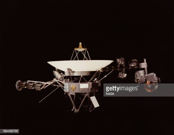 A NASA image of one of the Voyager space probes Voyager 1 and its identical sister craft Voyager 2 were launched in 1977 to study the outer Solar...