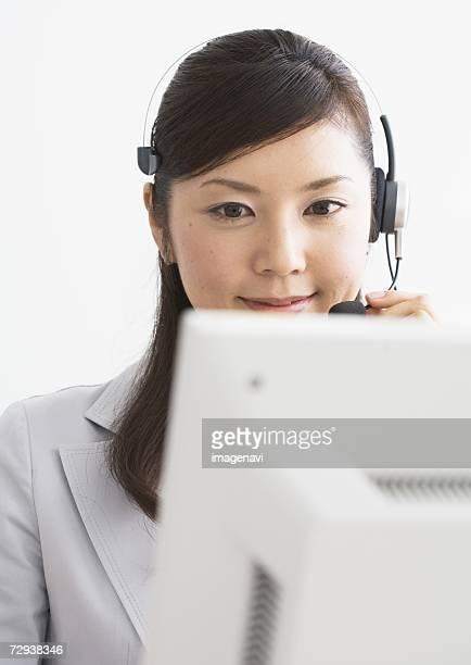 Image of operating telephone